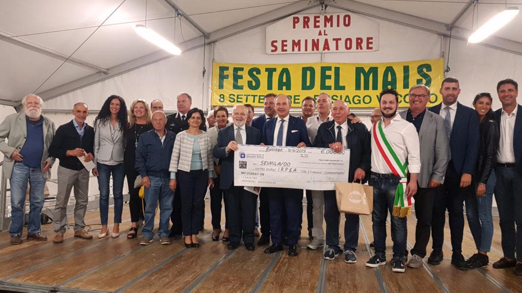 Ritirato del Premio al Seminatore 2019 del presidente di IRPEA Armando Gennaro